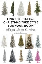 Have low ceilings? A tiny apartment or condo? High ceilings? See these gorgeous Christmas trees in all shapes, colors and sizes! Corner trees, tall & short trees, porch trees, flocked & tinsel trees #tabletop #tree #christmasdecor #xmasdecor #holidaydecor