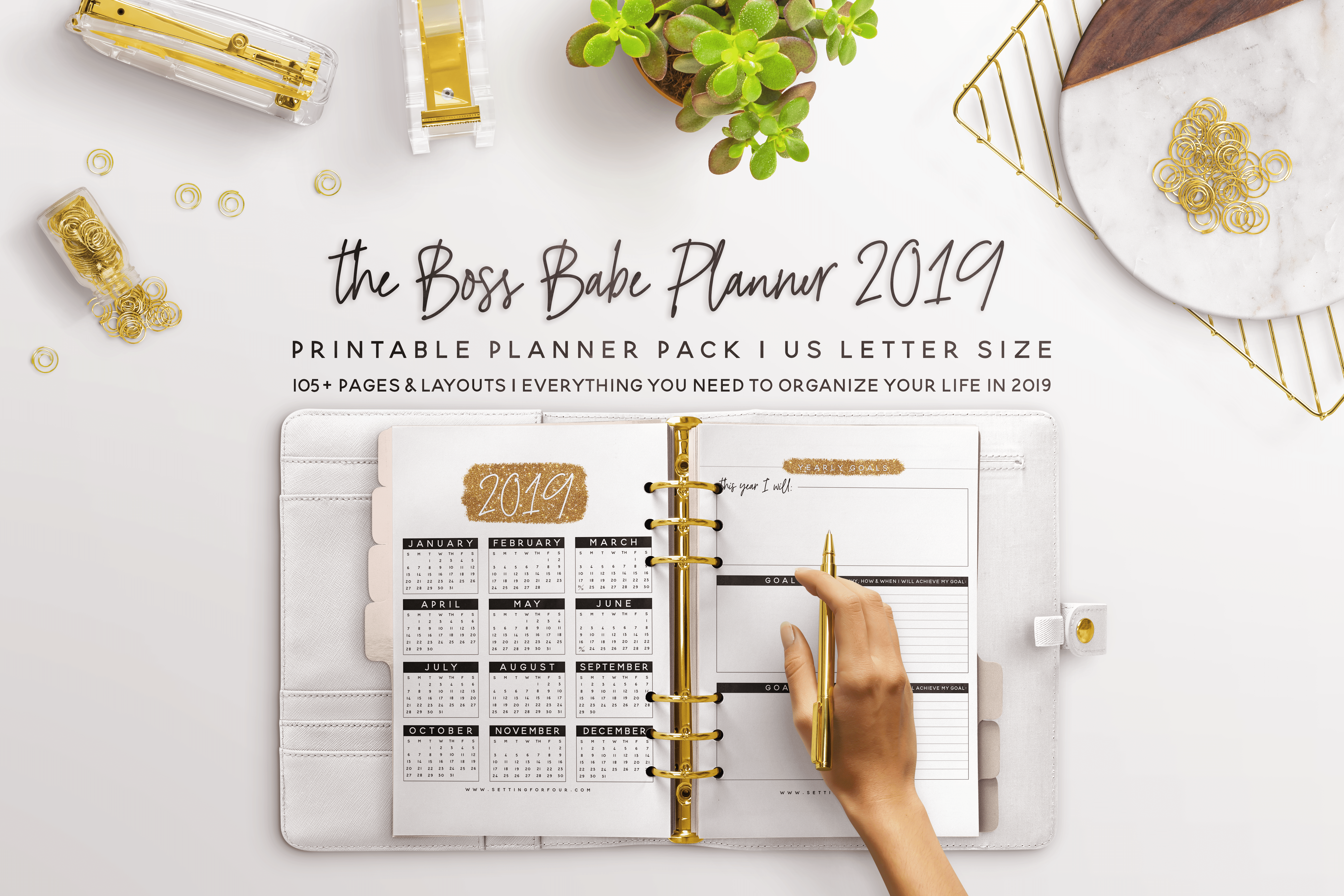 2019 Boss Babe Planner 106 Pages