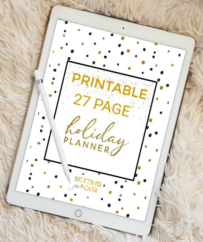 Stay sane with this fantastic Printable Holiday Planner – 27 pages to Organize and Plan Christmas!
