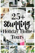 I love home tours do you? See 25 Stunning Christmas Home Tours & Decor Ideas to get new decorating tips for your home indoors and outdoors! #christmashometours #christmasdecor #holidaydecor #xmasdecor #decorideas #hometours #kitchen #livingroom #bedroom #porch #familyroom