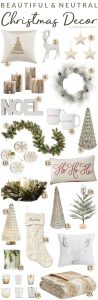 Beautiful & Neutral Christmas Decor Ideas For The Home #neutral #elegant #christmasdecor #christmas #christmastree #christmaswreath #christmasgarland #holidaydecor