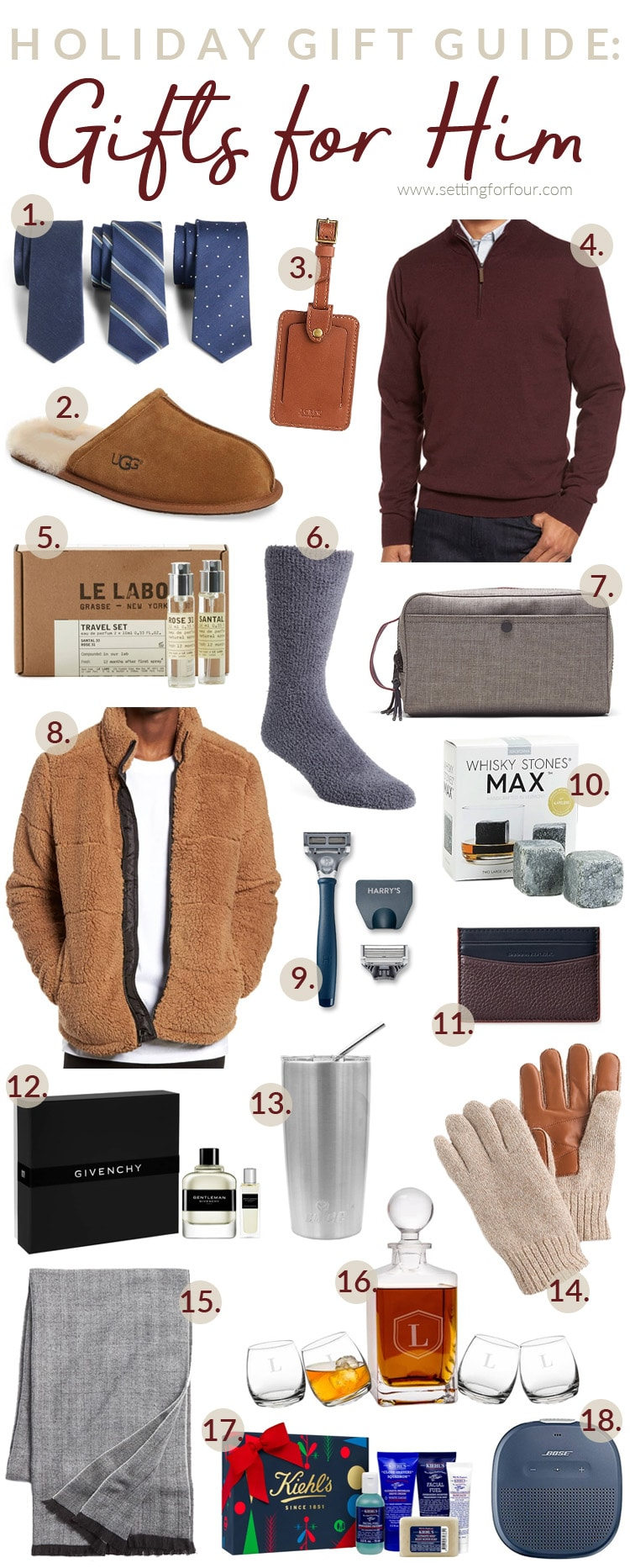 Holiday Gift Guide - Gifts for Him! #holiday #gifts #giftguide #christmas #christmasgifts #giftideas giftideasformen