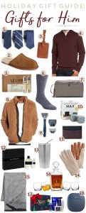 Holiday Gift Guide for Him - see my top present and stocking stuffer finds for the men in our lives that are so hard to shop for!