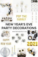 Essential New Year's Eve Party decor ideas, favors and supplies!