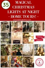 See these 35 magical Christmas lights at night home tours ! Learn different ways to decorate your home with the glow and beauty of Christmas lights!