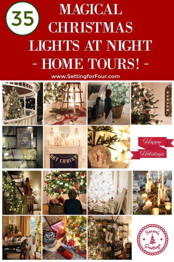 Christmas Lights at Night Home Tours - learn different ways to decorate your home with Christmas lights! #christmasdecor #christmaslights #christmas #hometours #glow #decorideas