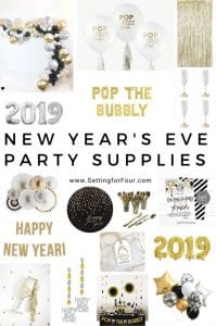Ring in the new year the easy and elegant way with these fun and fabulous New Year's Eve Party supplies! #party #nye #newyearseve #entertaining #decor #banners #balloons #photos #partysupplies