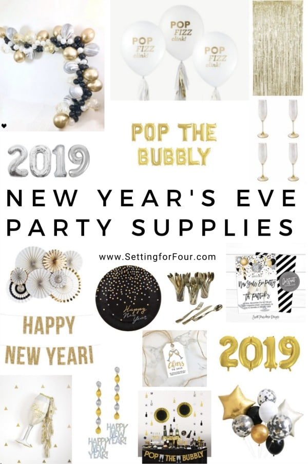 Throw a memorable party & decorate your home for your NYE party the easy way with these fun & fabulous New Year's Eve Party Supplies! #party #supplies #NewYearsEve #banners #balloons #entertaining