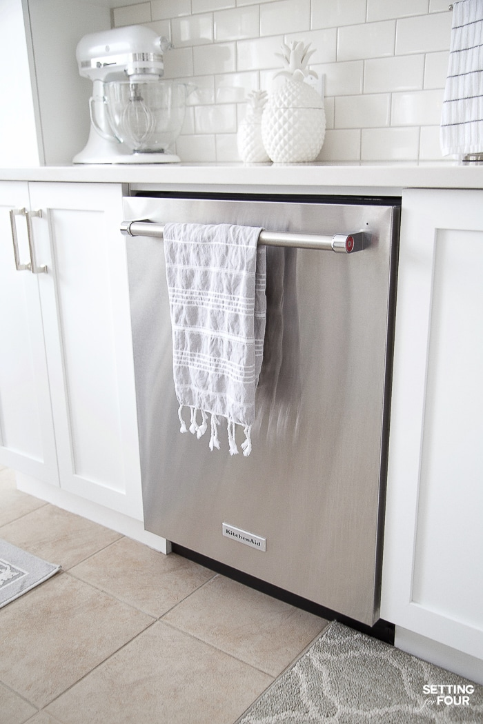 Quiet KitchenAid dishwasher. #energystar #energy #efficient #dishwasher #quiet #stainless #steel #kitchen #appliance
