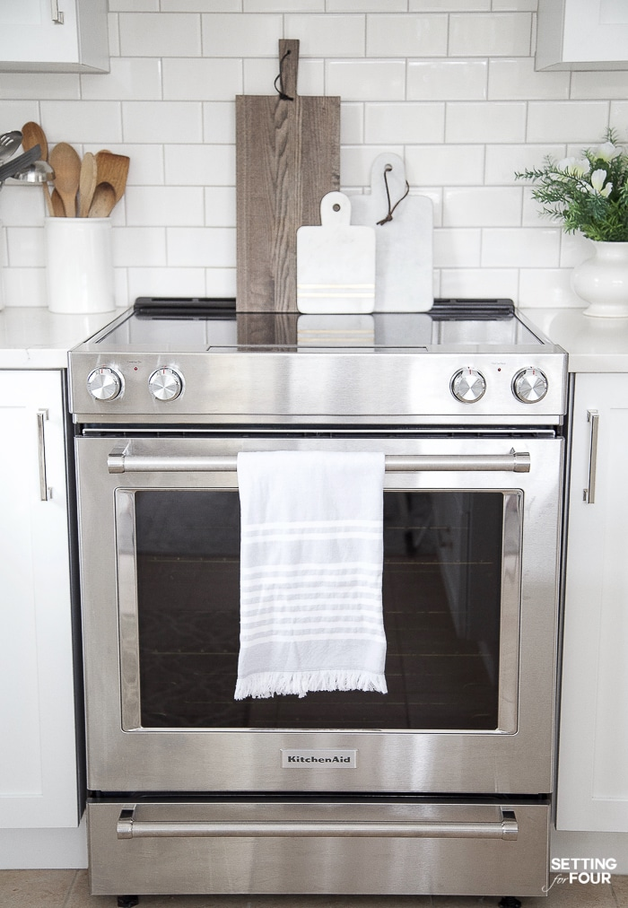 KitchenAid electric range. #stainless #steel #electric #range #cooktop #surface #decor #ideas