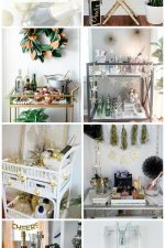 7 New Year's Eve Bar Cart Decor & Entertaining Ideas