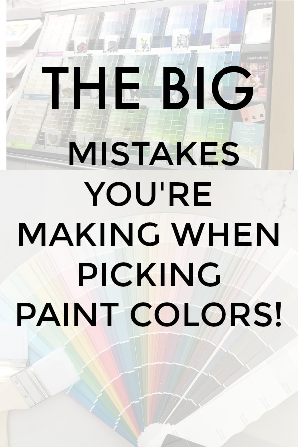 Paint color mistakes graphic with overlay text.
