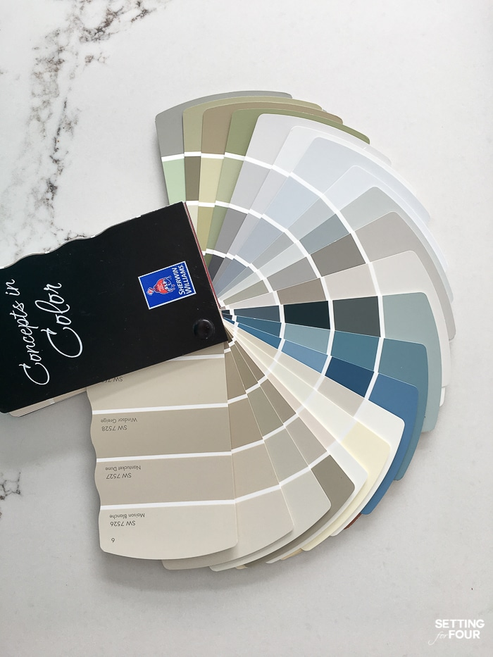How to select the right paint color for a room using a fan deck. #paint #color #diy #room #decor #fandeck