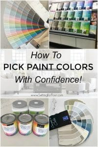 How to pick paint colors with confidence! No more guessing or decision paralysis! Read this valuable guide on how to choose the right colors for your room! #paint #color #home #room #paintingtips #interiordecor #interiordesign #diyhomedecor #colorinspiration