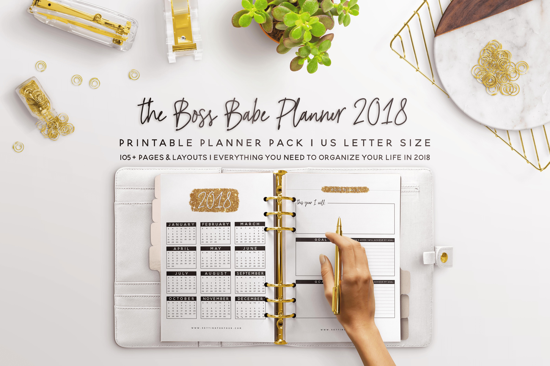 Boss Babe Printable 2019 Planner