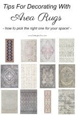 What style of rug is right for your room? How to pick the right area rug for your space! #decor #decorideas #design #interiors #style #rug #arearug #homedecor