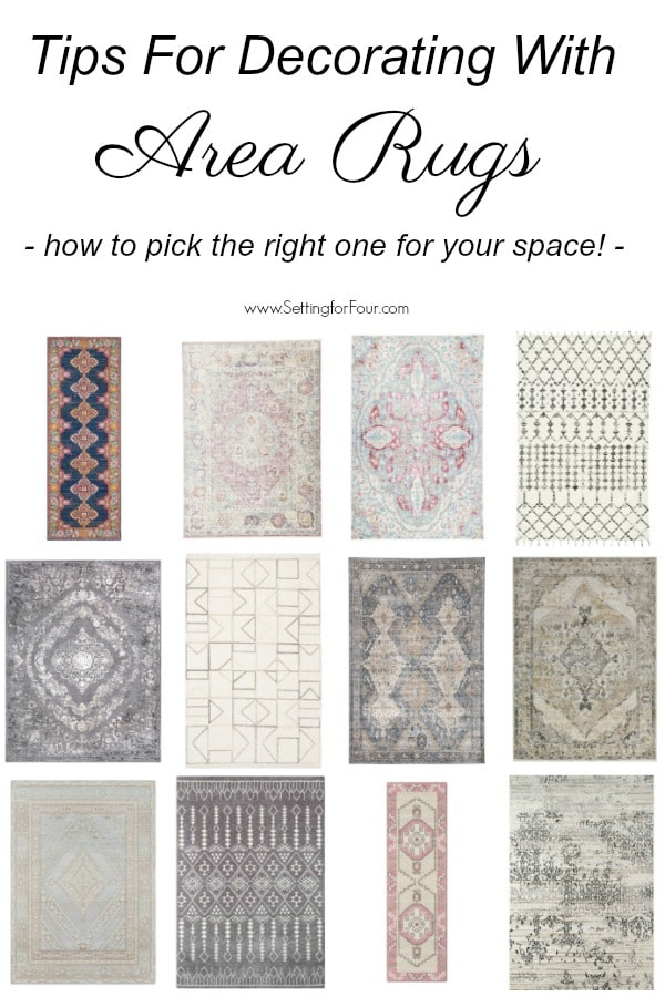 Get the PROMO CODE for 10% off a NEW RUG! Design tips: What style of rug is right for your room? How to pick the right area rug for your space! #promocode #sale #decor #ad #decorideas #design #interiors #style #rug #arearug #homedecor