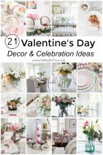 21 Valentine's Day Decor & Party ideas! Galentine's party & Valentine's breakfast ideas, diy decor ideas, tablescapes and romantic ideas too! #valentinesday #party #tablesetting #galentinesparty #breakfast #dinner #valentinesdaydecor