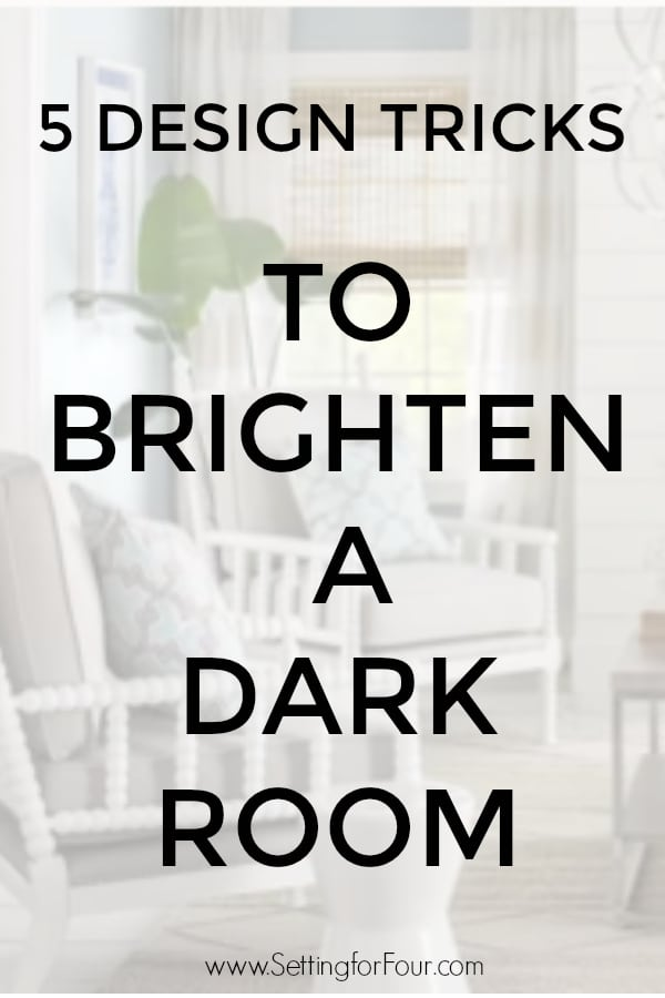 Make a room sunnier instantly! 5 Design Tricks To Brighten A Dark Room! #decor #room #home #ideas #brighten #lighter #dark