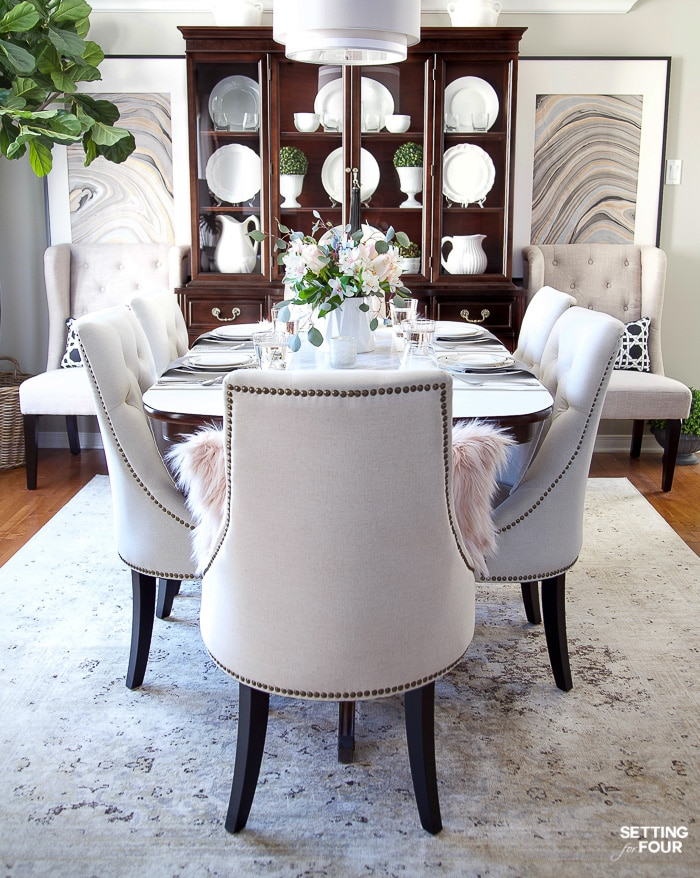How To Update Dining Room Furniture Setting For Four