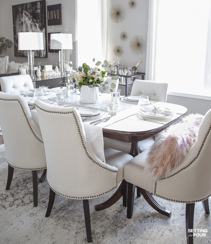 How To Update Dining Room Furniture - Setting for Four