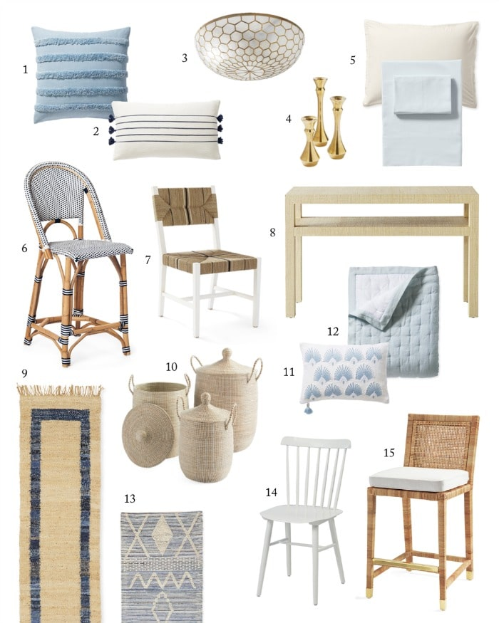 OMGEE!! Check out the Serena & Lily Sale! 20% OFF EVERYTHING! Chairs, rugs, lighting, bar stools, baskets, pillows! #shopping #sale #savings #furniture #gifts