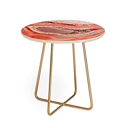 Pantone living coral accent table. #pantone #livingcoral #color #table