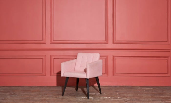 Pantone Color of the Year - Living Color on walls. #paint #color #pantone #livingcoral