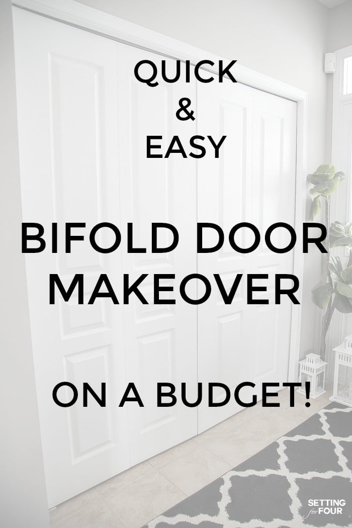 Quick and easy bifold door makeover on a budget! #quick #easy #diy #project #makeover #bifold #door #closet #entryway #ideas