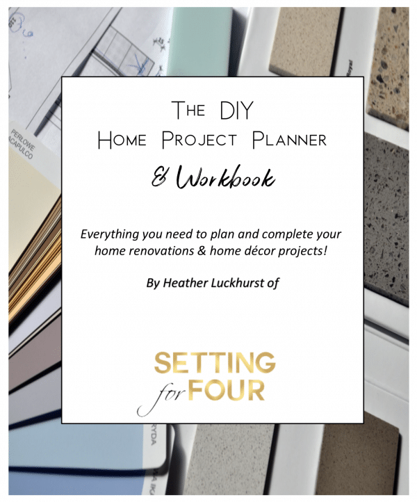 This amazing DIY Home Project Planner & Workbook will get your home renovations, kitchen remodel & home decor projects organized, planned and completed!