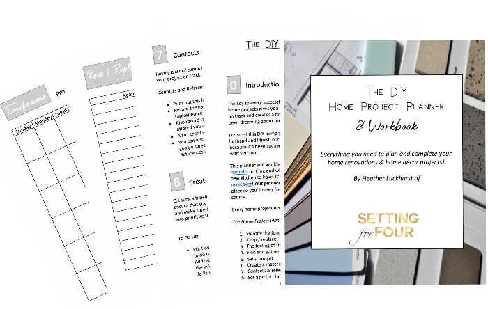 Home Renovation and Remodel Planner Printable.