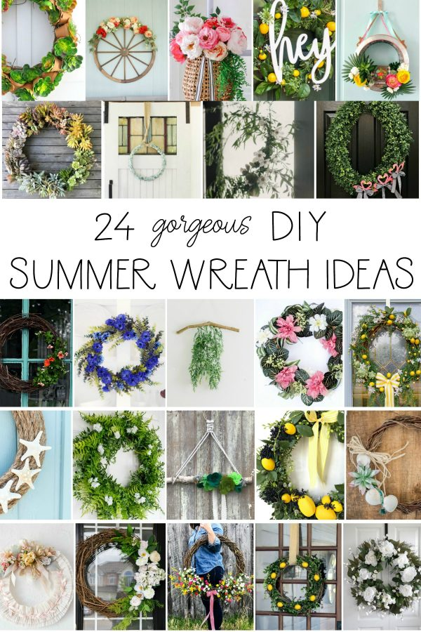 24 gorgeous DIY summer wreath ideas collage