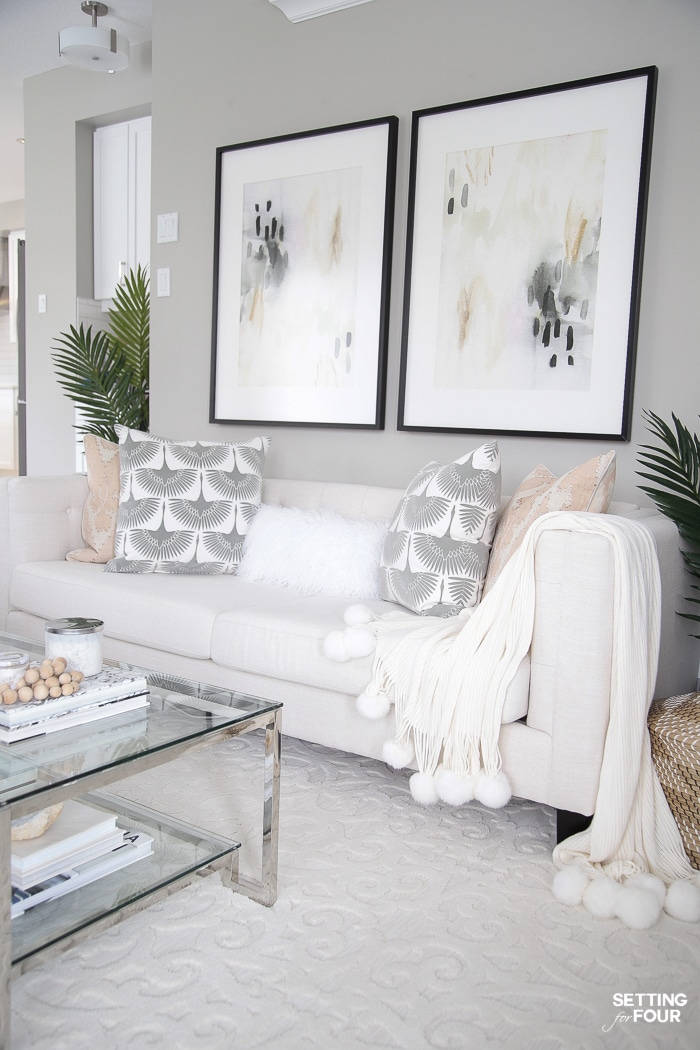 My Living Room Decor Ideas for Spring - Setting for Four