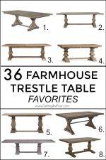 36 Farmhouse Trestle Table Favorites