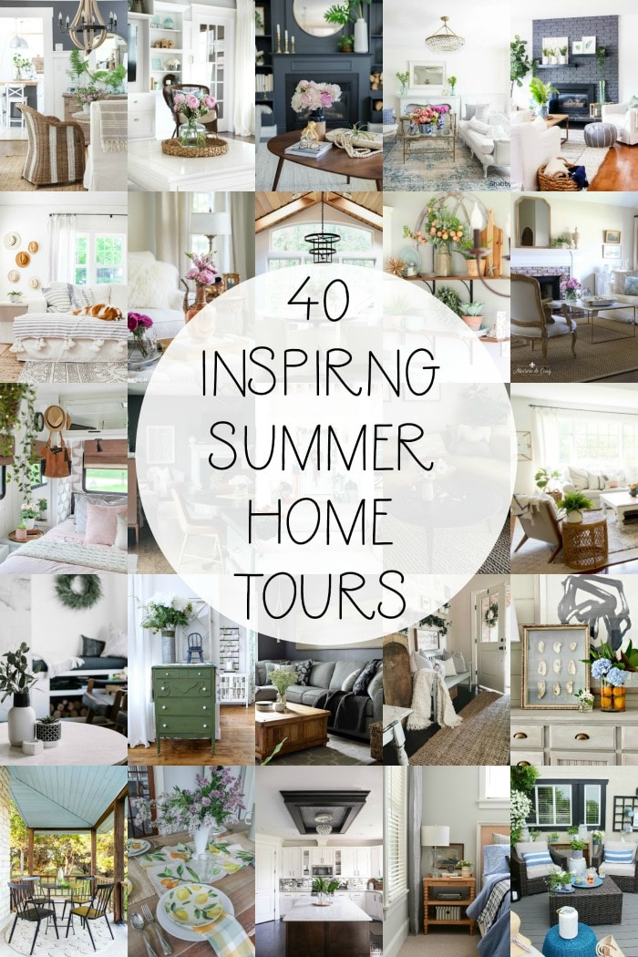 40 inspiring summer home tours with design bloggers graphic