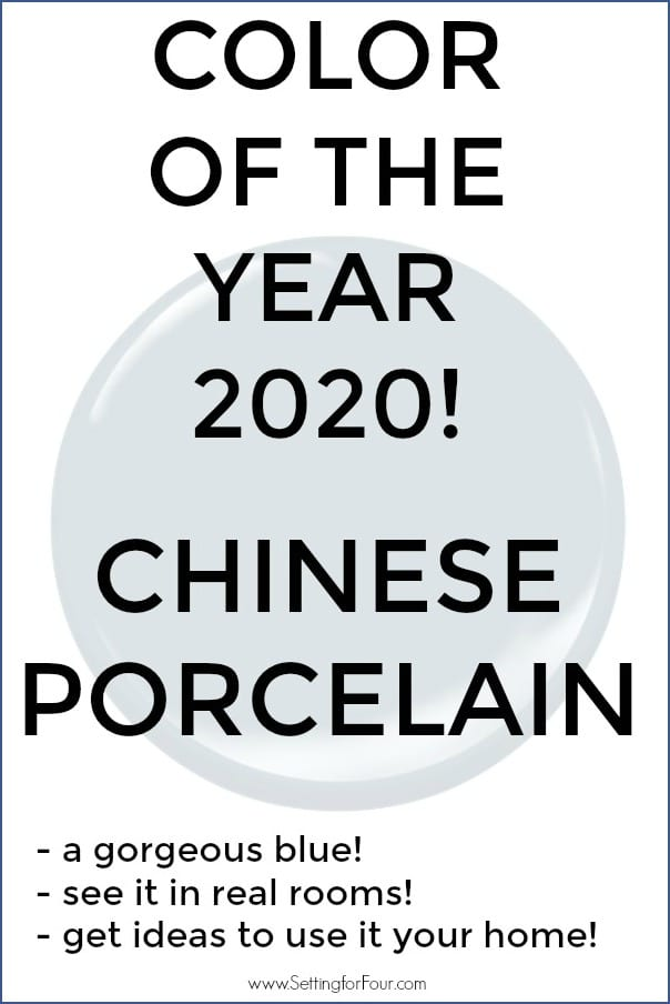 Chinese Porcelain is color of the year 2020 for PPG paints.