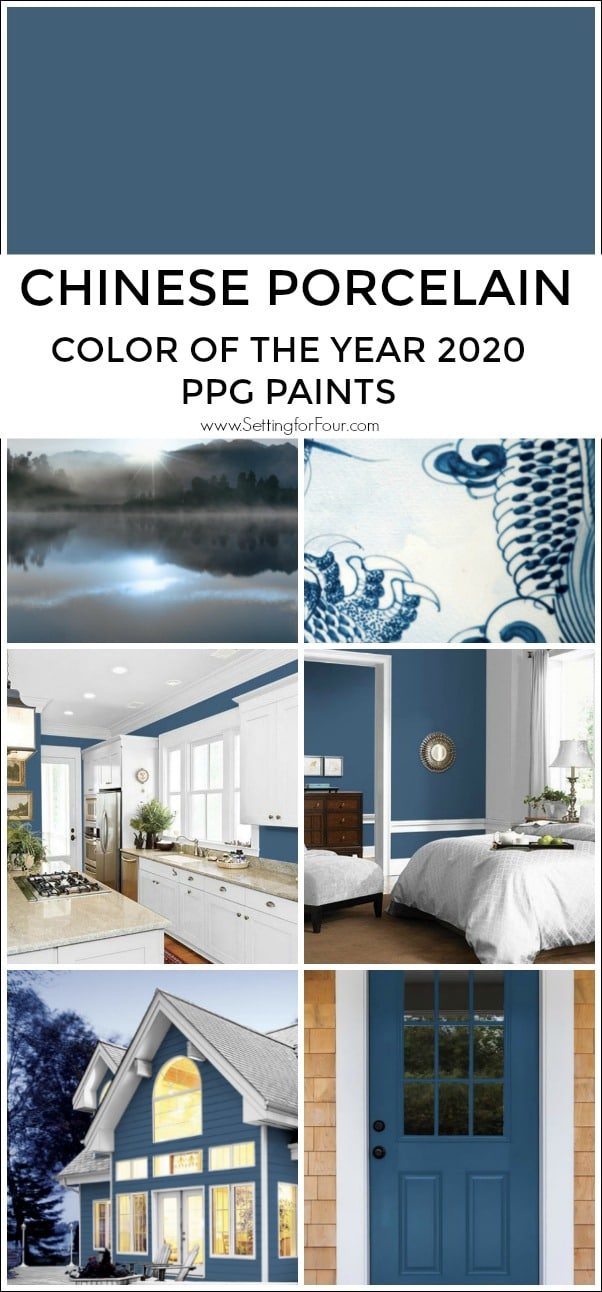 Chinese Porcelain paint color collage of inspiration rooms painted this blue color