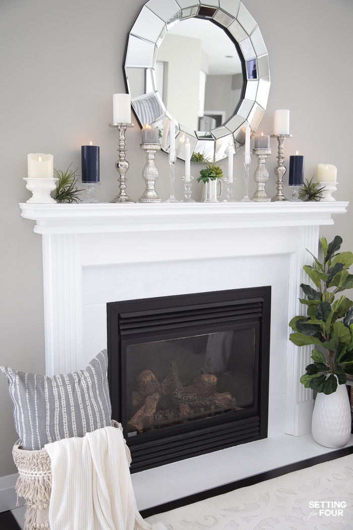 5 Elegant Summer Mantel Decor Ideas Setting For Four