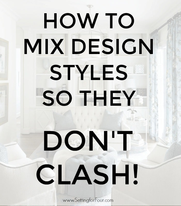 How to mix design styles so they don't clash