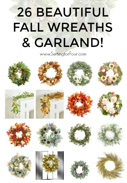 26 Beautiful Fall Wreaths & Garland For Your Front Door and Kitchen!
