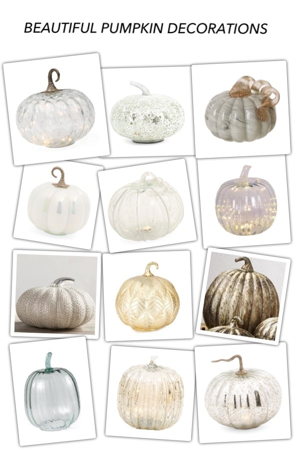 32 Pumpkin Decorating Ideas for the home.