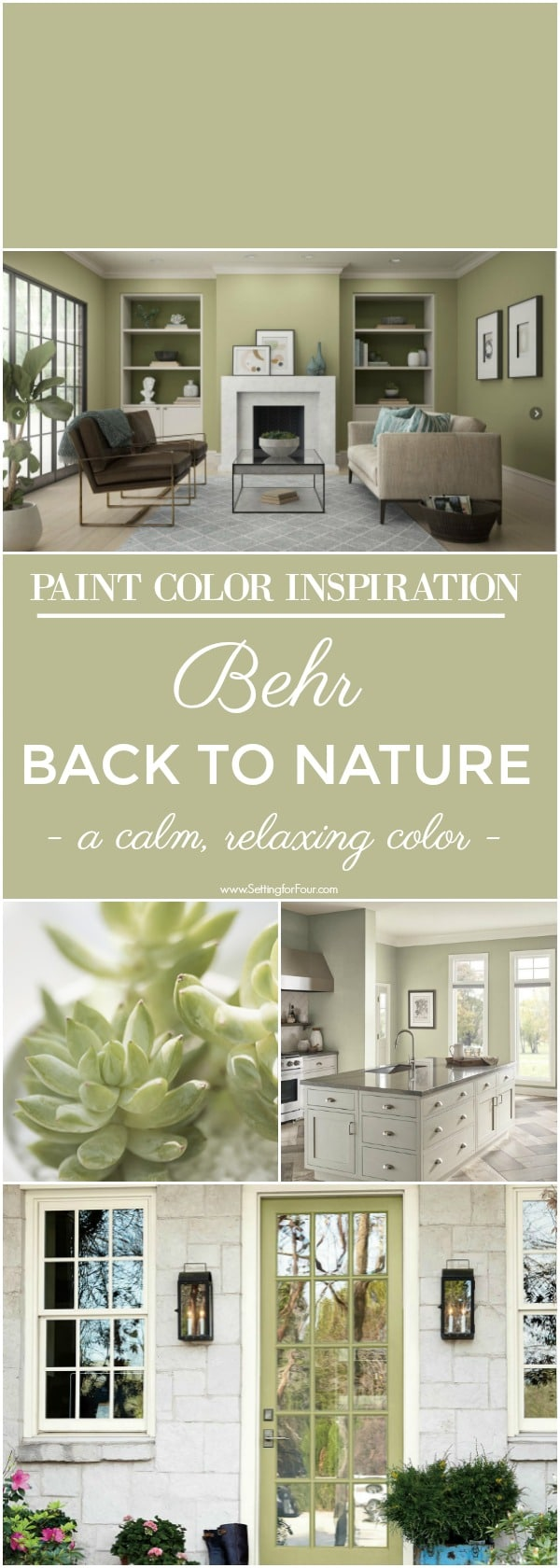Behr Back To Nature Paint Color Color Of The Year 2020 Setting For Four