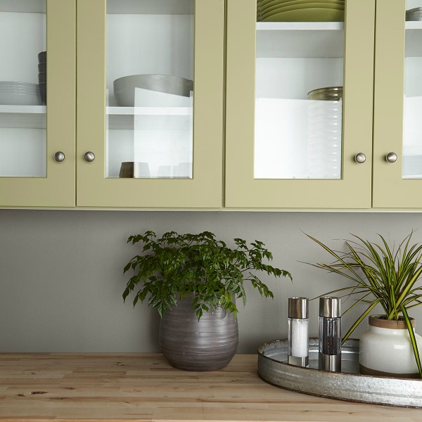 See this gorgeous Kitchen Cabinet paint color idea using Behr Back To Nature
