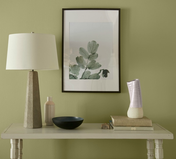 Back to Nature by Behr paint color in a living room or foyer - Color of the Year 2020