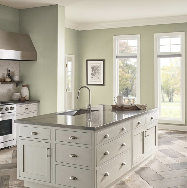 See Back to Nature by Behr kitchen color scheme