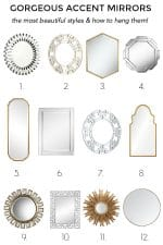 Gorgeous Accent Mirrors – The Most Beautiful Styles & How To Hang Them