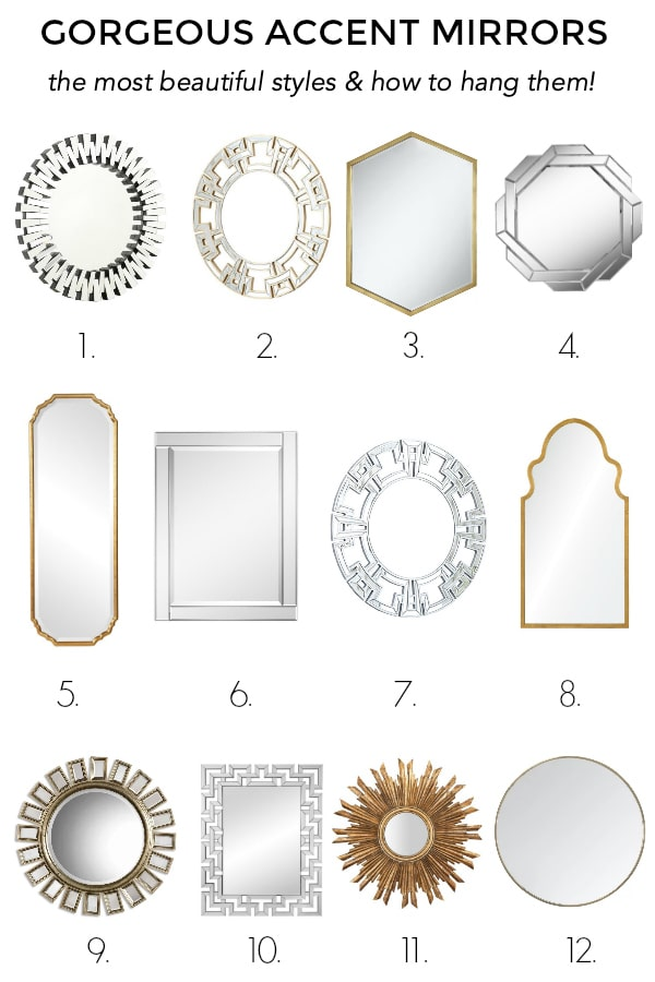 Gorgeous Accent Mirrors
