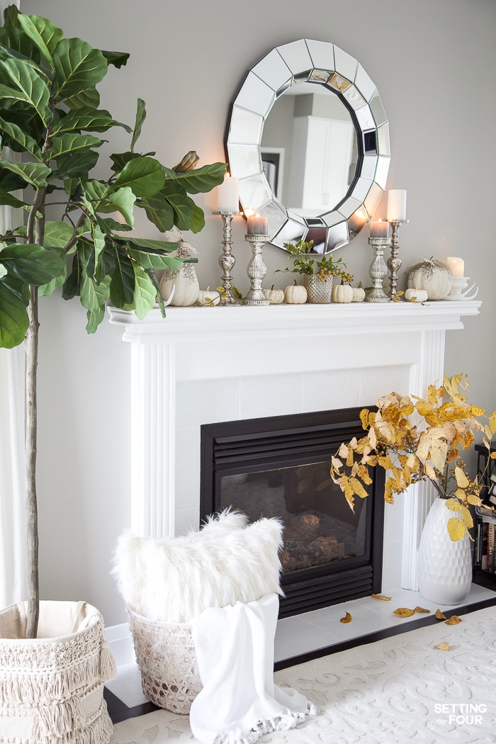 Elegant Fall Fireplace Mantel Decor Ideas To Celebrate Autumn!