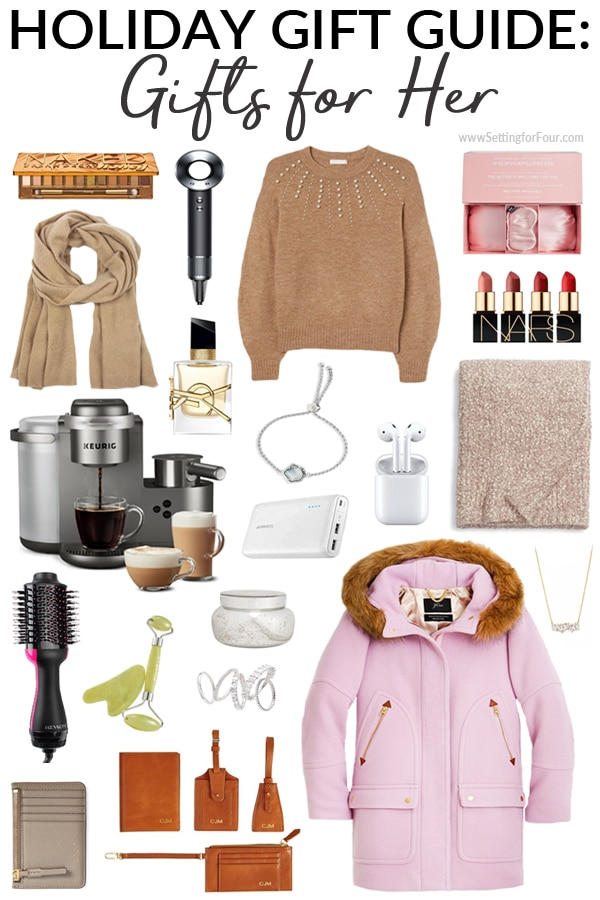 Gifts for Her Christmas Gift Guide - fashion, beauty, cozy decor.