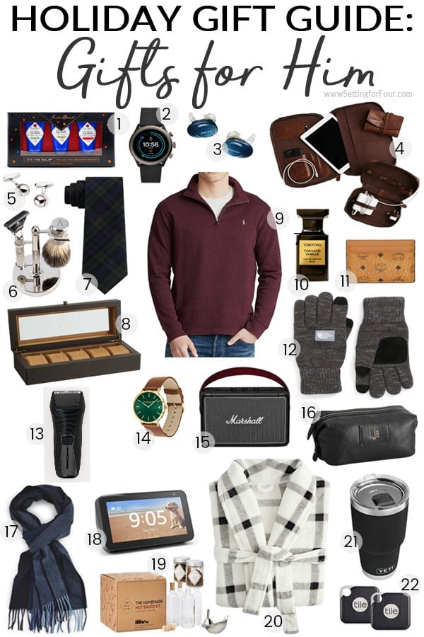 Holiday Gift Guide 2019 Gifts For Him Setting For Four